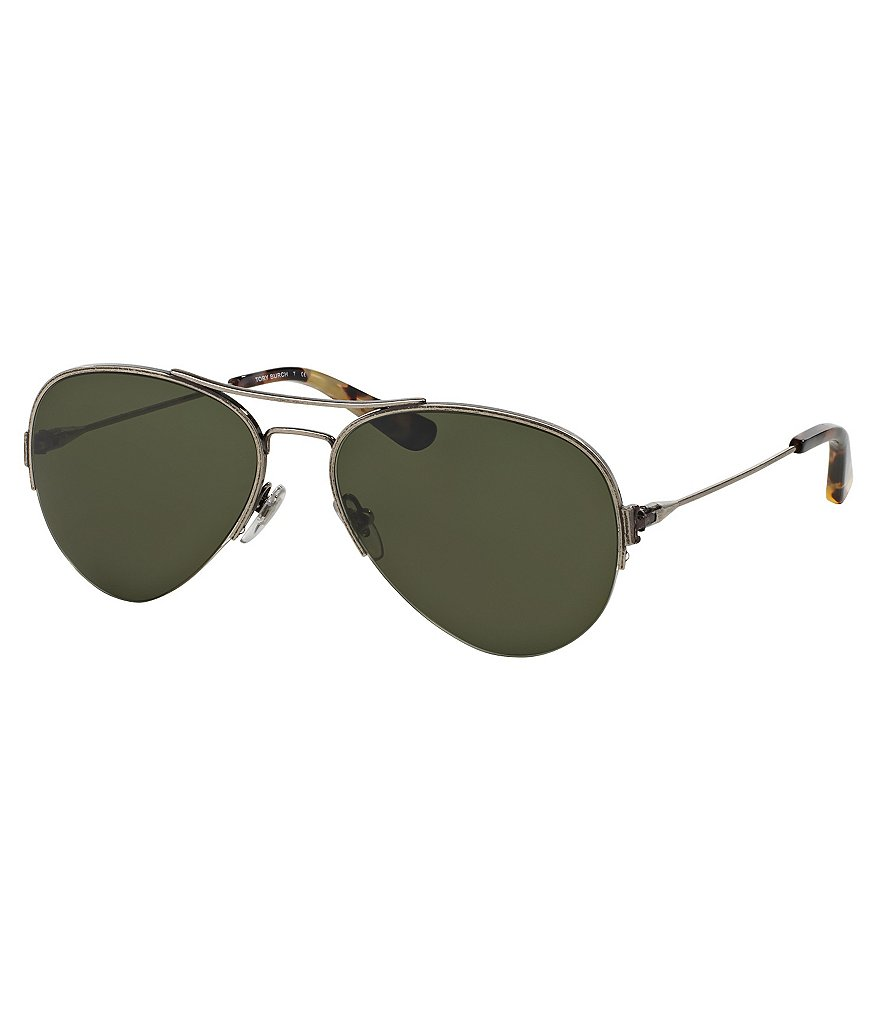 Tory Burch Small Aviator Sunglasses