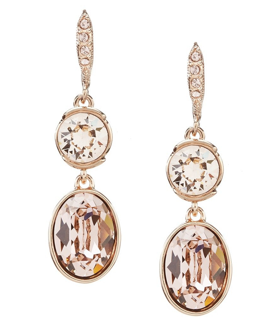 Givenchy Crystal Double-Drop Earrings