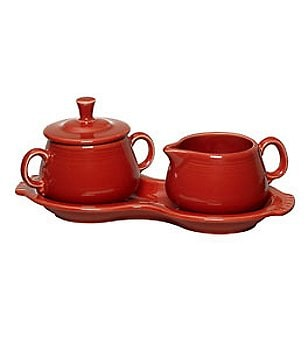 Fiesta Sugar Bowl & Creamer Set