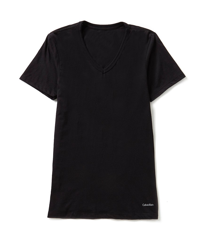 Calvin Klein Cotton Classic 3-Pack Slim-Fit V-Neck Tees