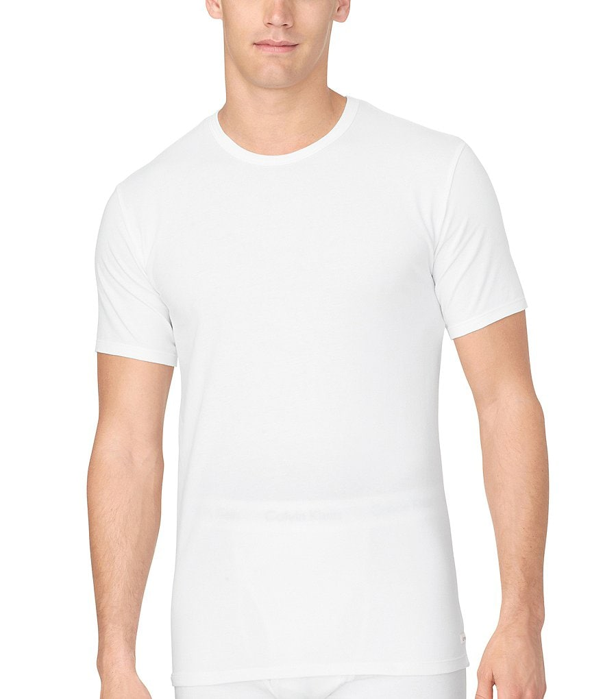 Calvin Klein Cotton Stretch 2-Pack Crewneck Under Shirts