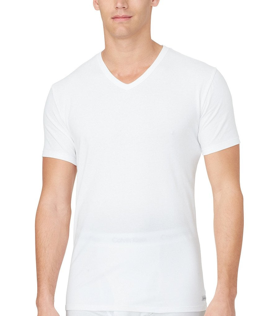 Calvin Klein Cotton Stretch 2-Pack V-Neck Under Shirts