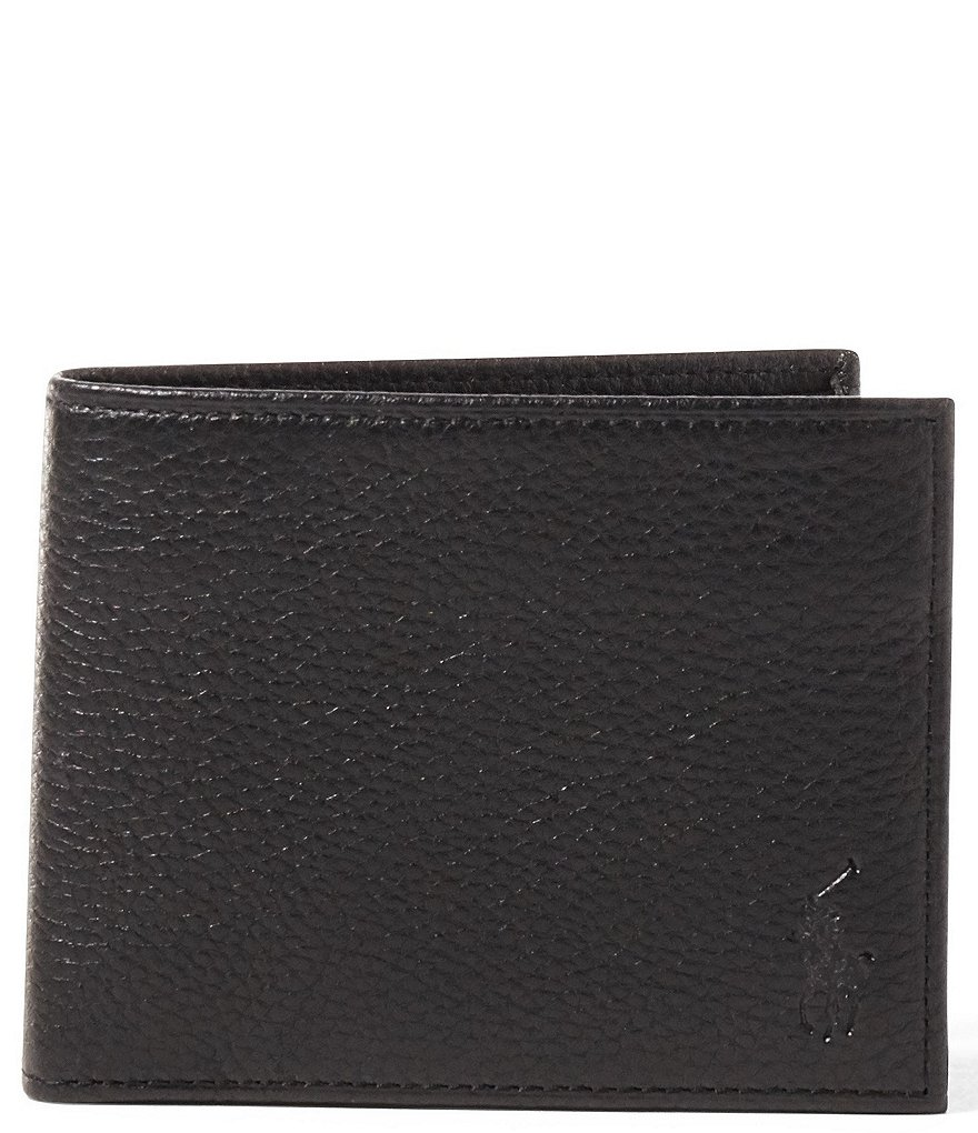 Polo Ralph Lauren Pebbled Leather Window Billfold