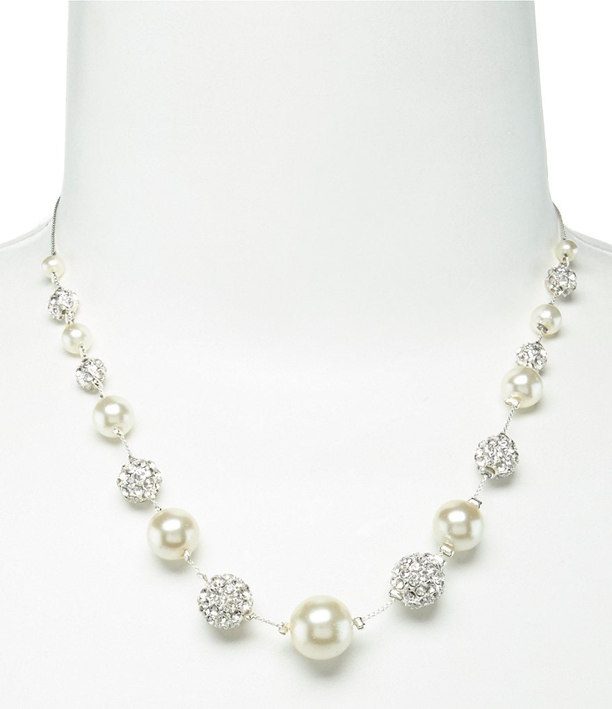 Cezanne Illusion Rhinestone & Faux-Pearl Necklace