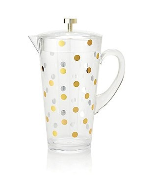 kate spade new york Raise A Glass Metallic-Dotted Cold-Beverage Pitcher