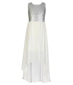 Ruby Rox 7-16 Sequin-Bodice Hi-Low Dress