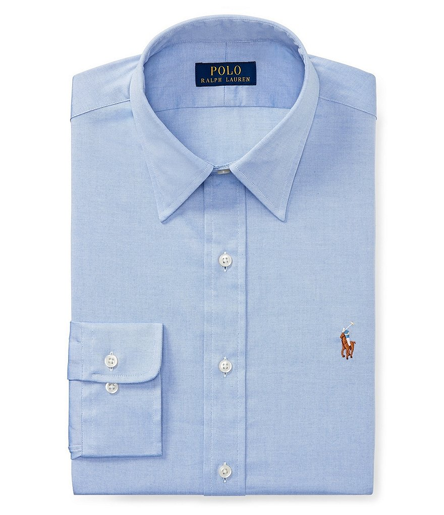 Polo Ralph Lauren Fitted Classic-Fit Point-Collar Oxford Dress Shirt