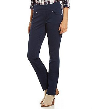 Jag Jeans Peri Pull-On Straight Leg Twill Jeans