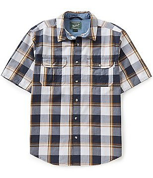Woolrich Midway Yarn-Dyed Plaid Short-Sleeve Woven Shirt
