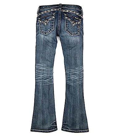 Miss Me Girls 7-16 Border-Pocket Bootcut Denim Jeans