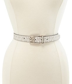 Michael Kors Reversible Patent to Logo Belt