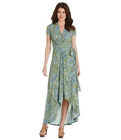 MICHAEL Michael Kors Ashbury Paisley-Print Faux-Wrap Maxi Dress
