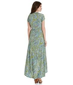MICHAEL Michael Kors Ashbury Paisley-Print Faux-Wrap Maxi Dress