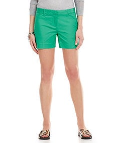 MICHAEL Michael Kors Stretch Cotton Doubleface Flat-Front Shorts