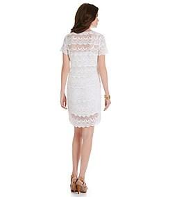 MICHAEL Michael Kors Crochet Scallop Lace Sheath Dress