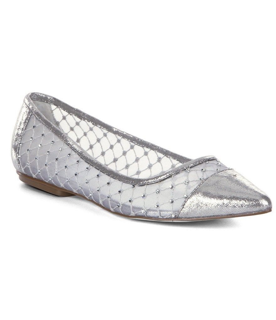 Adrianna Papell Jewel Pointed-Toe Flats