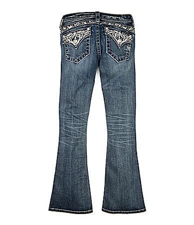 Miss Me Girls 7-16 Five-Pocket Bootcut Denim Jeans