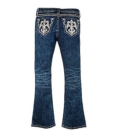 Miss Me Girls 7-16 Fleur-de-Lis-Pocketed Bootcut Denim Jeans