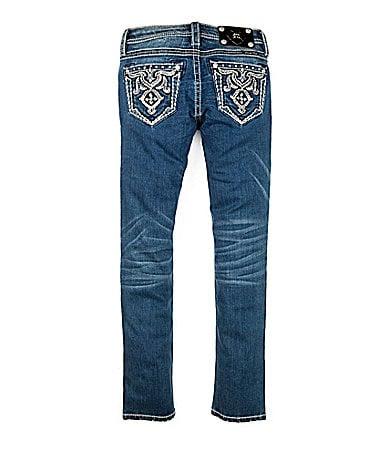 Miss Me Girls 7-16 Embellished-Pocket Denim Skinny Jeans