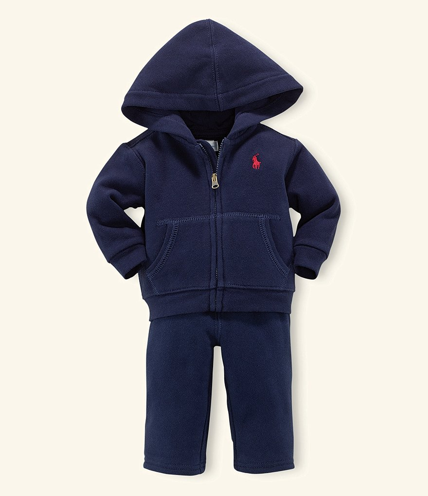 Ralph Lauren Childrenswear Baby Boys 3-24 Months Full-Zip Hoodie & Pull-On Pant Set