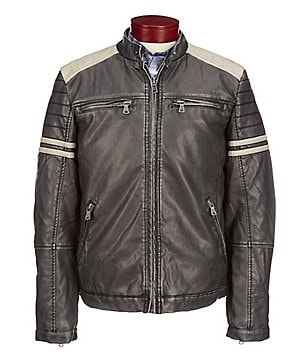 PX Clothing Faux-Leather Jacket