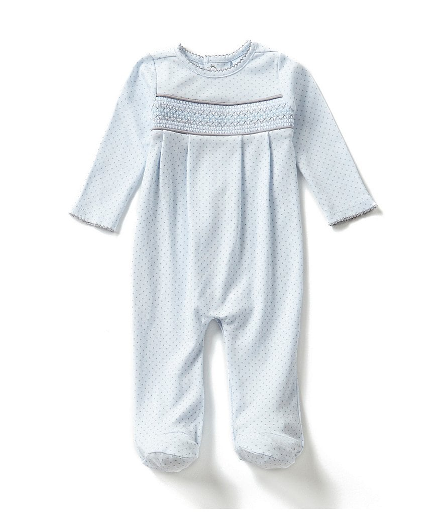 Edgehill Collection Baby Boys Newborn-6 Months Smocked Dotted Coverall