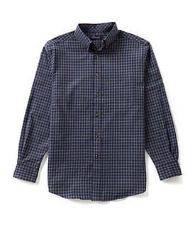 Roundtree & Yorke Casuals Check Button-Down Shirt Image