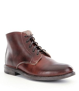 Bed Stu Hoover Distressed Leather Lace-Up Boots