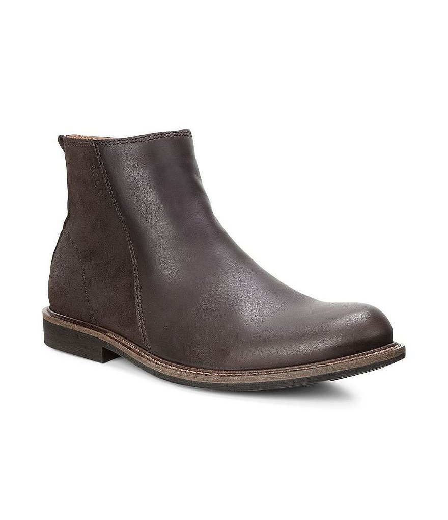 ECCO Findlay Leather & Suede Side-Zip Boots