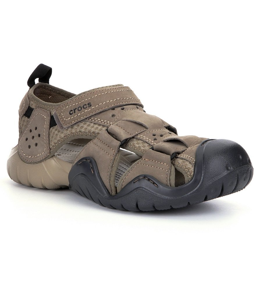 Crocs Men´s Swiftwater Leather Fisherman Sandals
