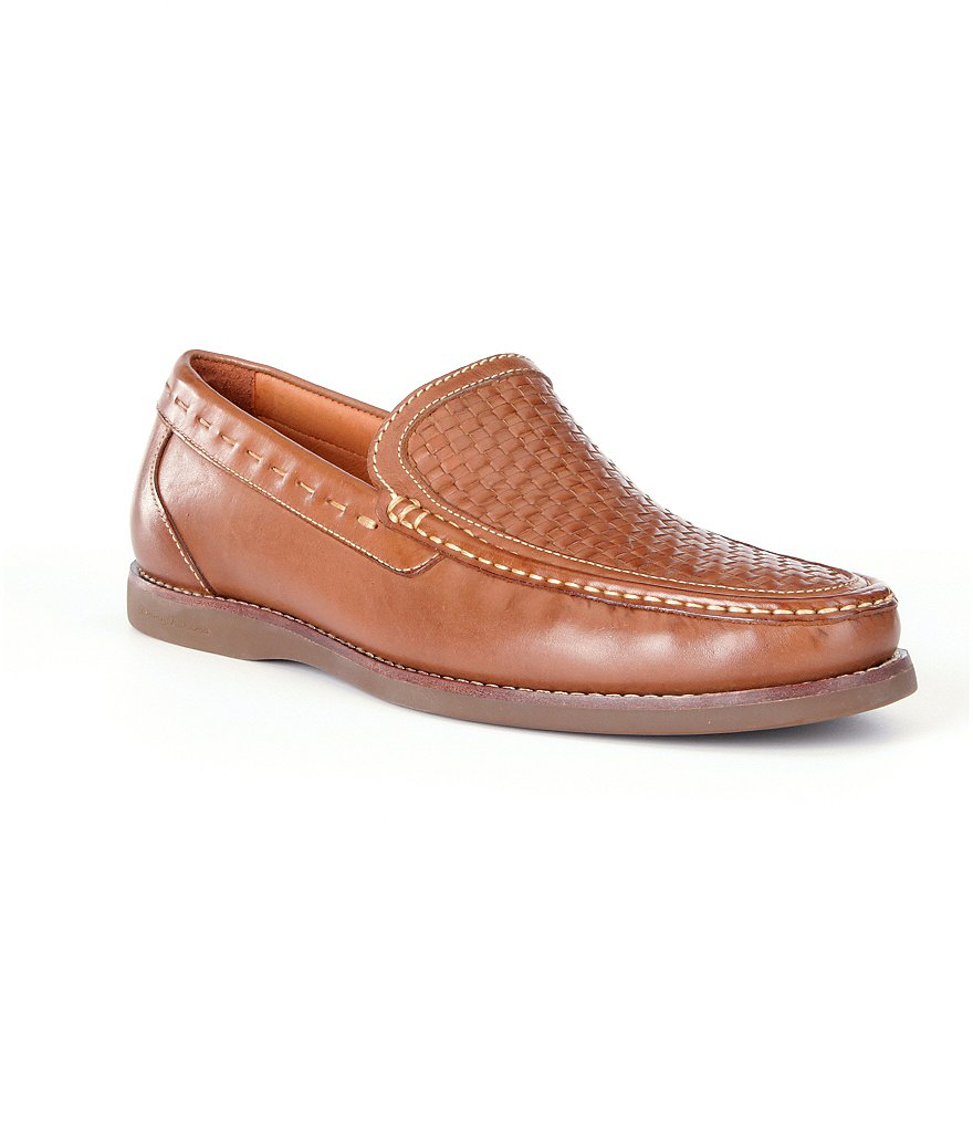 Tommy Bahama Brooks Bay Woven Leather Loafers