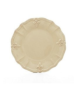 Artimino Beaded Fleur-de-Lis Earthenware Dinner Plate Image