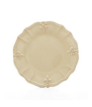 Artimino Beaded Fleur-de-Lis Earthenware Dinner Plate