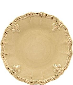Artimino Beaded Fleur-de-Lis Earthenware Salad Plate
