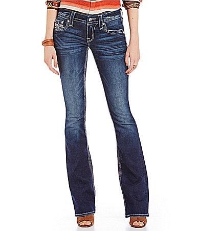 Rock Revival Sukie Wavy Stitch Back Pocket Jeans