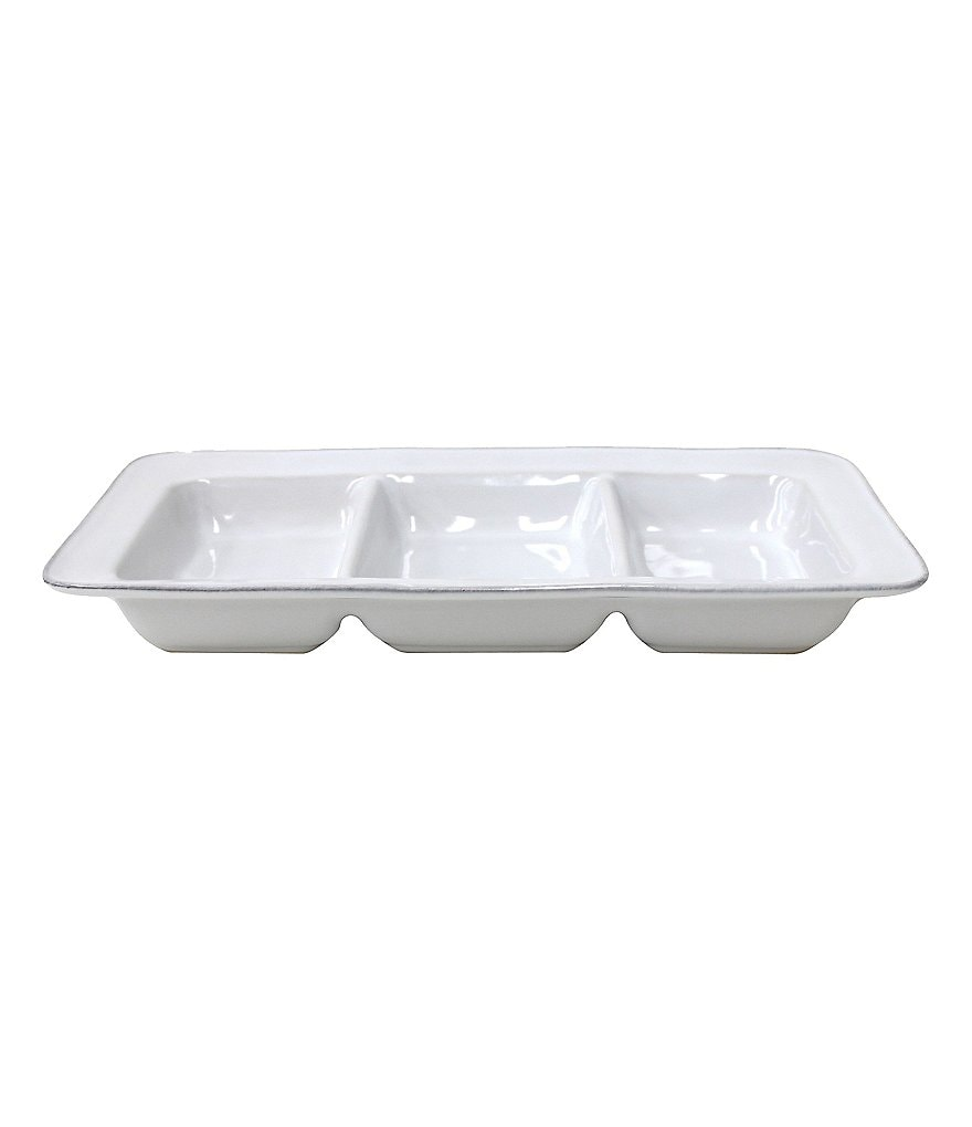 Noble Excellence Astoria Glazed Stoneware 3-Section Tray