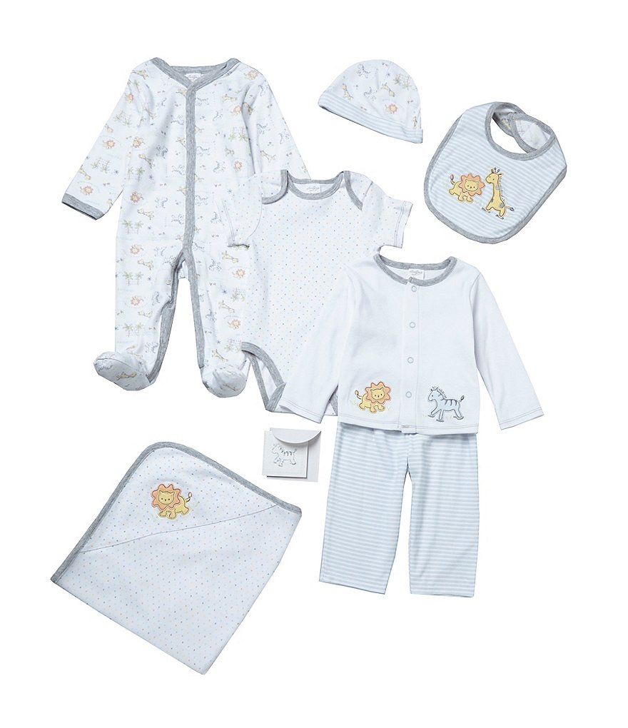 Starting Out Baby Boys Newborn-6 Months 7-Piece Jungle Layette Set