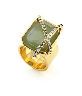 Louise Et Cie Emerald Cut Stone Ring Image
