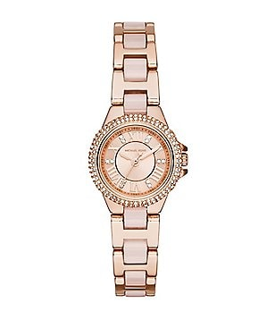 Michael Kors Ladies Petite Camille Rose Gold and Blush Analog Watch