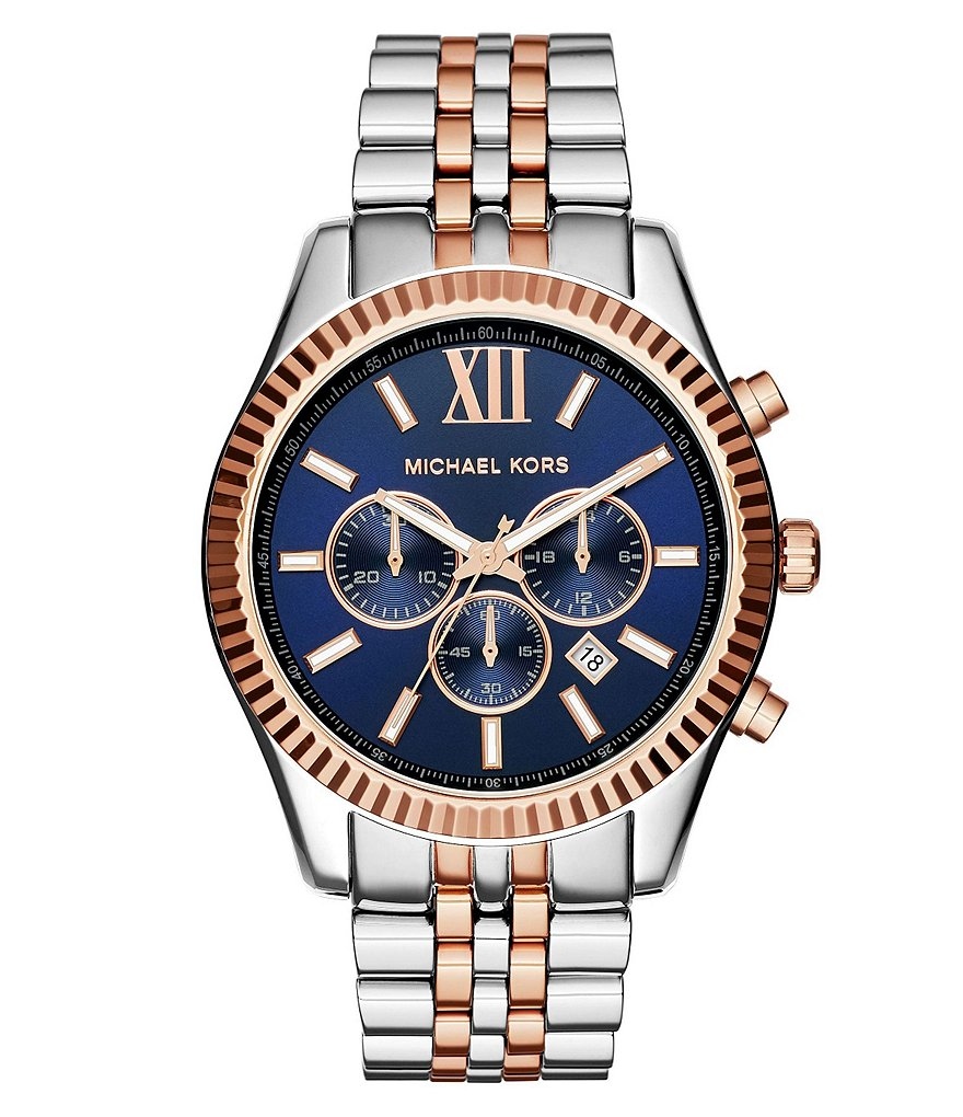 Michael Kors Men´s Lexington Two-Tone Stainless Steel Chronograph Watch