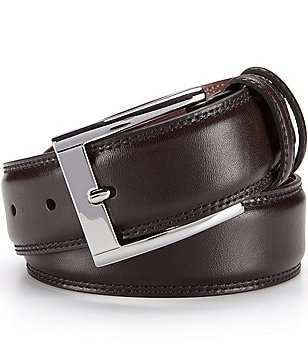 Cremieux Double-Row Stitch Leather Belt