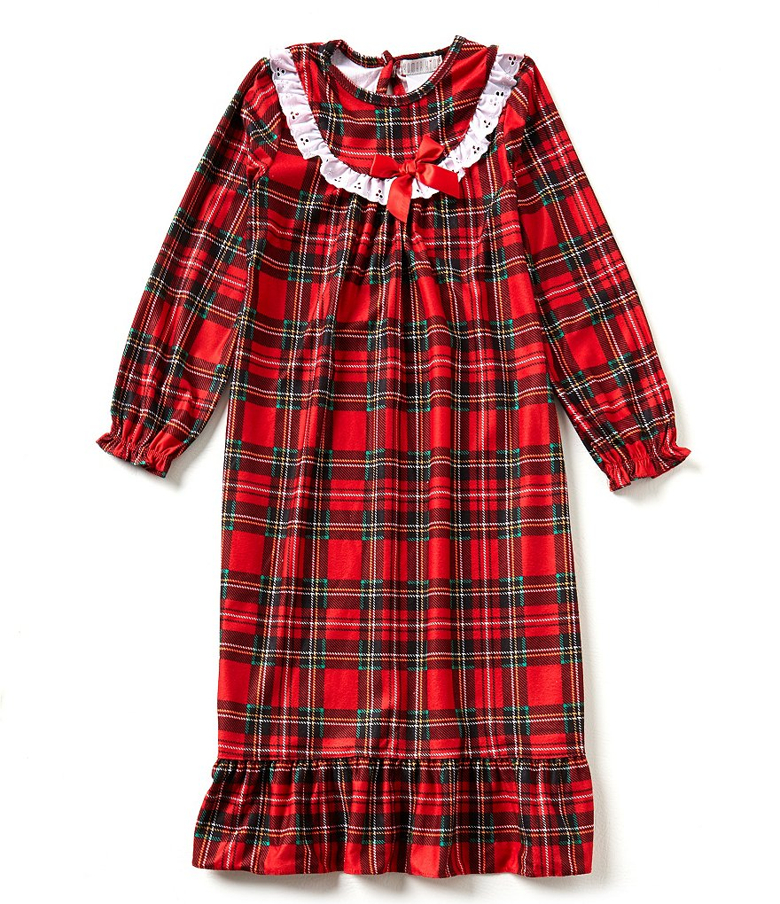 Komar Kids 7-16 Christmas Plaid Nightgown
