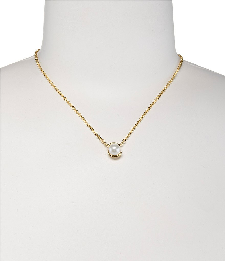 kate spade new york Dainty Sparklers Pearl Pendant Necklace