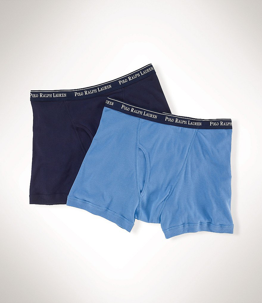 Polo Ralph Lauren Big & Tall Classic-Fit Cotton Boxer Brief Assorted 2-Pack