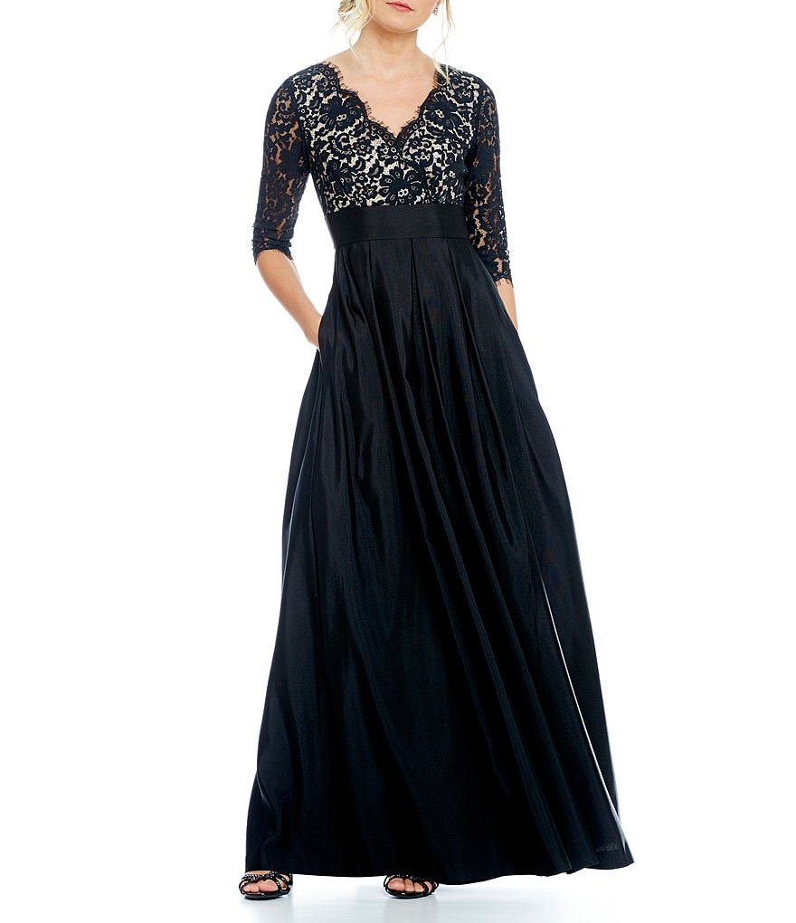 Eliza J Illusion Lace Ballgown