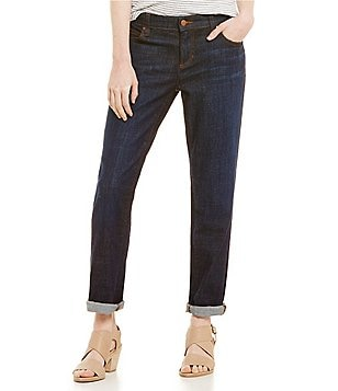 Eileen Fisher Cotton Stretch Boyfriend Jeans
