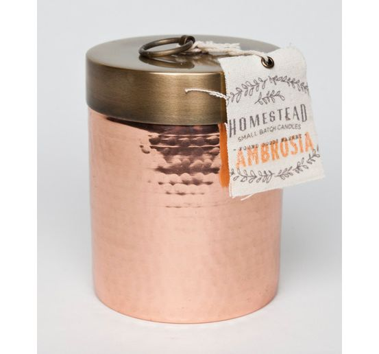 Aspen Bay Candles Homestead Ambrosia Hammered Canister