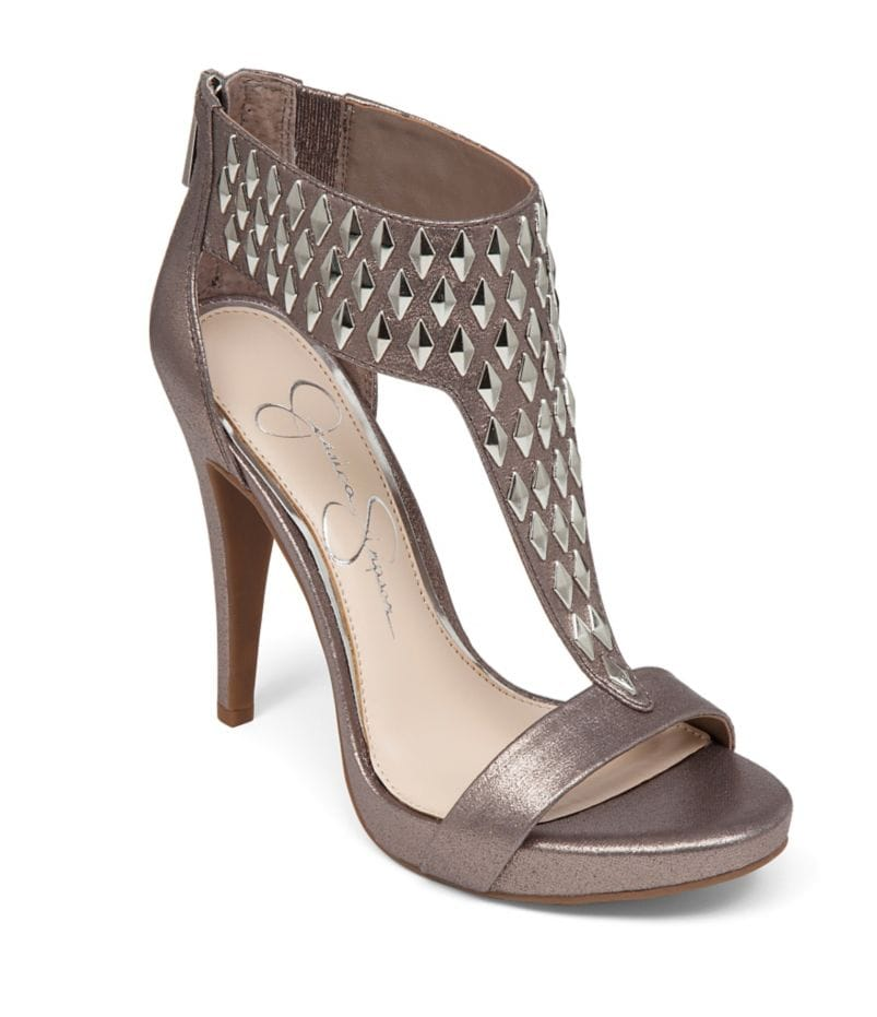 Jessica Simpson Cydney Studded T-Strap Platform Dress Sandals