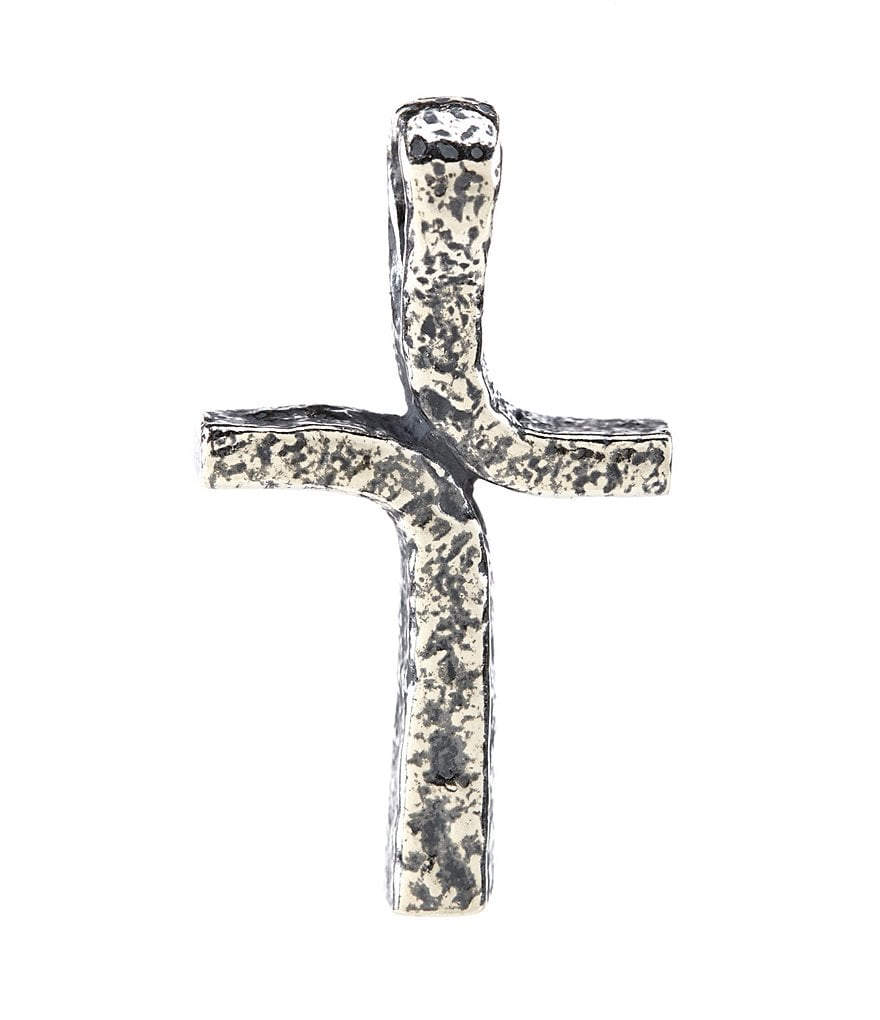 James Avery Rustic Cross Sterling Silver Pendant