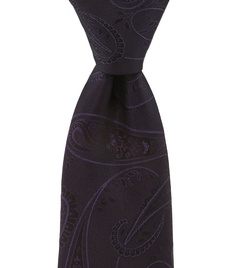 Murano Big & Tall Tonal Paisley Narrow Silk Tie